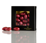Giftbox - Chocolate almonds, double chocolate & Bordeaux metallic