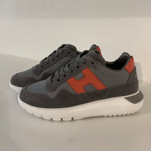 HOGAN grijze sneaker orange