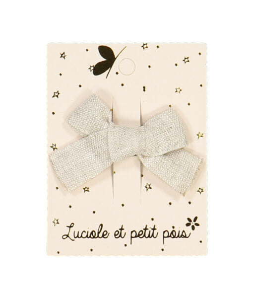 SPELD mini princess hairclip taupe linen