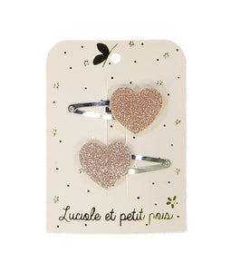 SPELD heart hairclips pink