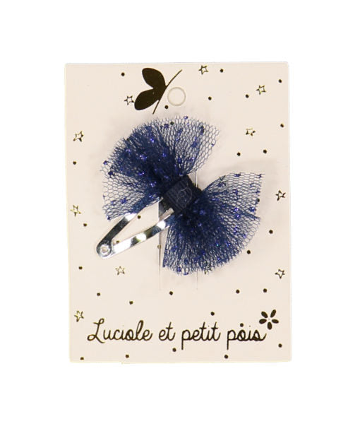 SPELD mini tutu hair clip blue
