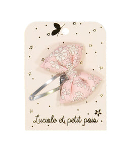 SPELD bowtie hair clip liberty capel rose nude