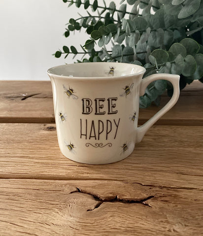 Bee Happy Cream Mug