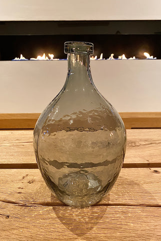 Grey Glass Balloon Vase