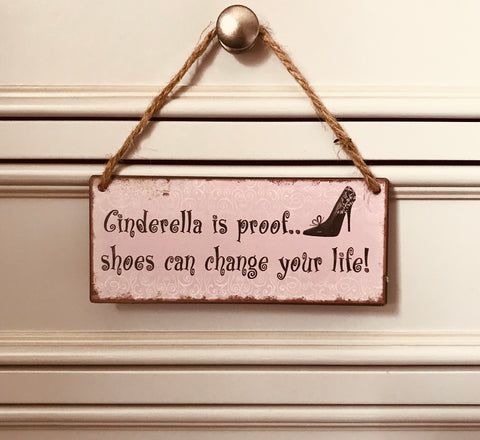 Cinderella Hanging sign