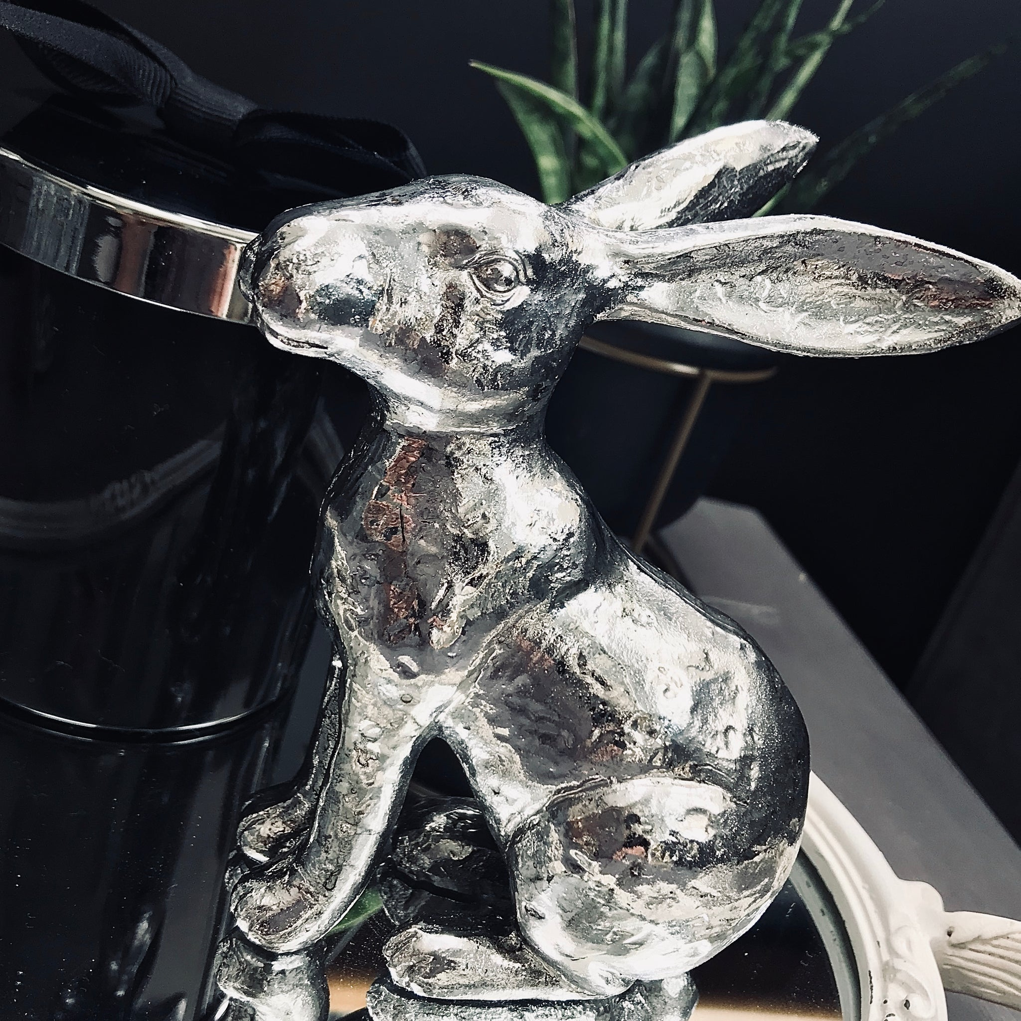 Silver Resin Rabbit