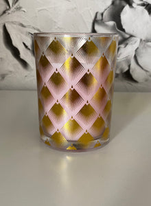 Deco Glam Glass Wax Filled Candle pot - Prosecco scent