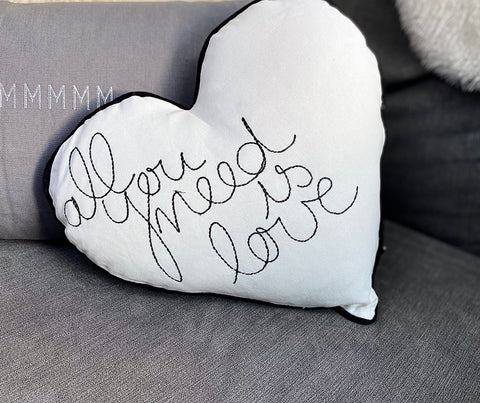 Heart Cushion 'All You Need Is Love'