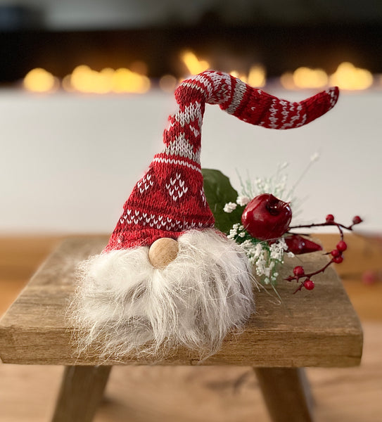 Wooly Hat Gnome - Red