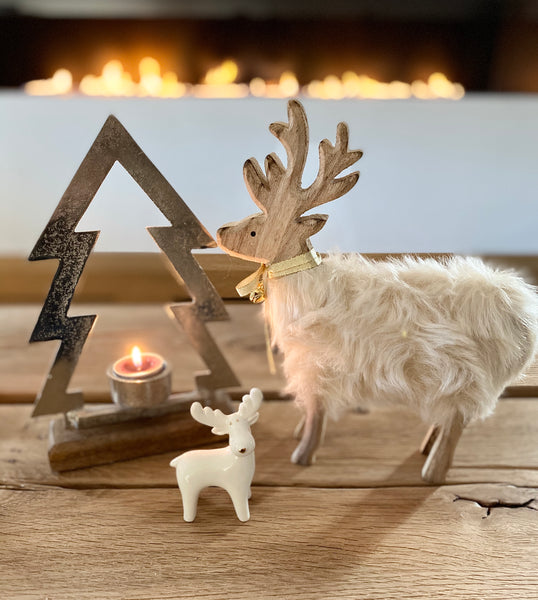 Ceramic White Reindeer