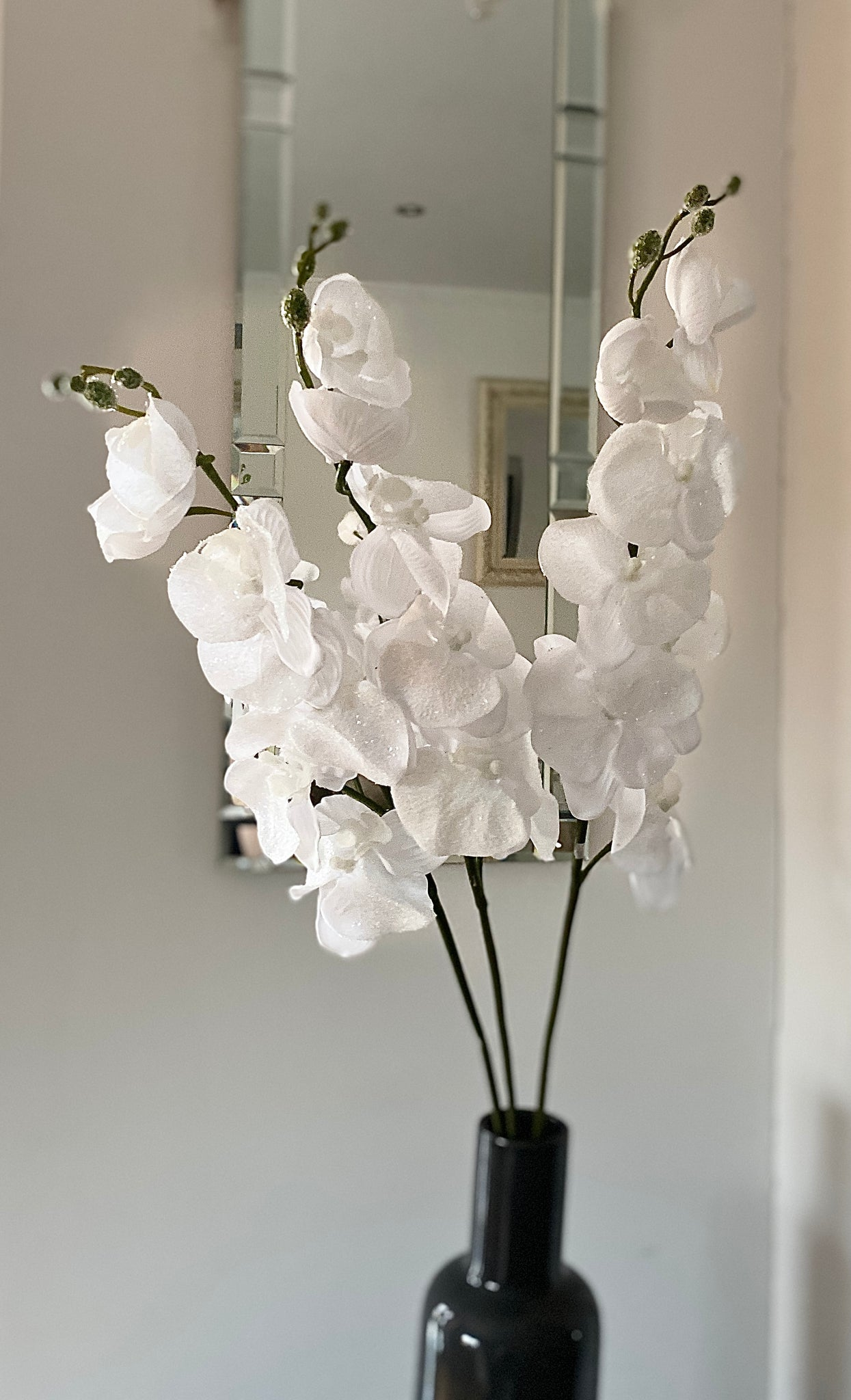 Artificial Orchid Stems with glitter