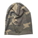 Slouch Beanie in Faded Camo Bamboo Jersey