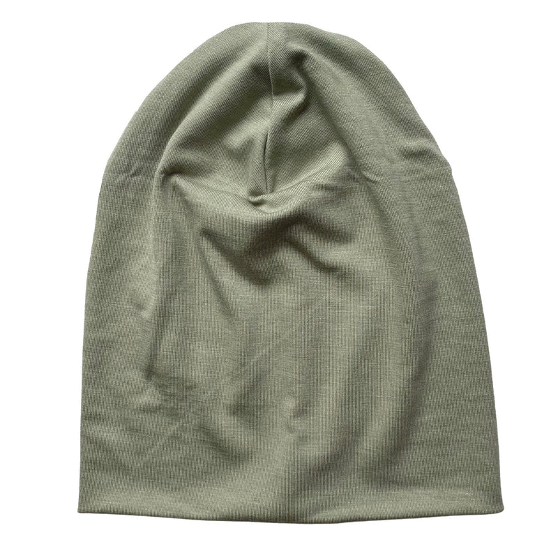 Slouch Beanie in Sage Bamboo Jersey