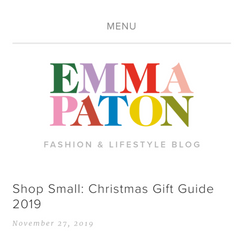 Emma Paton shop small gift guide 2019 - Mood Cards