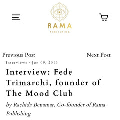 Interview with Fede Trimarchi for Rama Pulishing