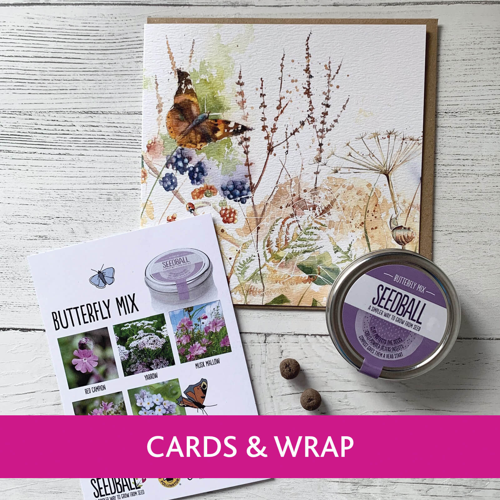 Ferrers Gallery, unique and handcrafted British made Cards and Wrap Collection