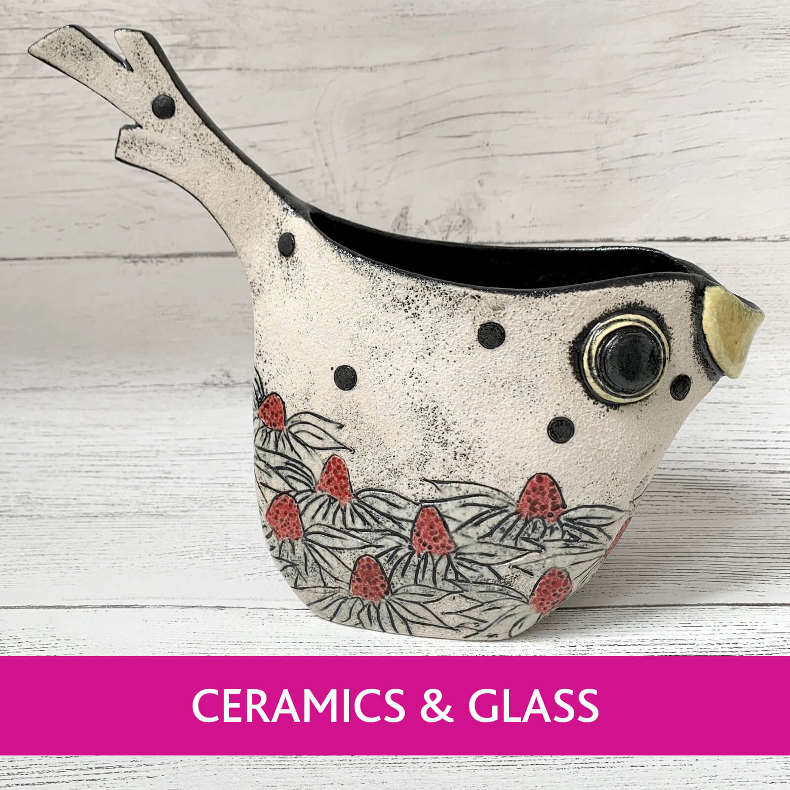 Ferrers Gallery, unique and handcrafted British made Ceramics and Glass Collection