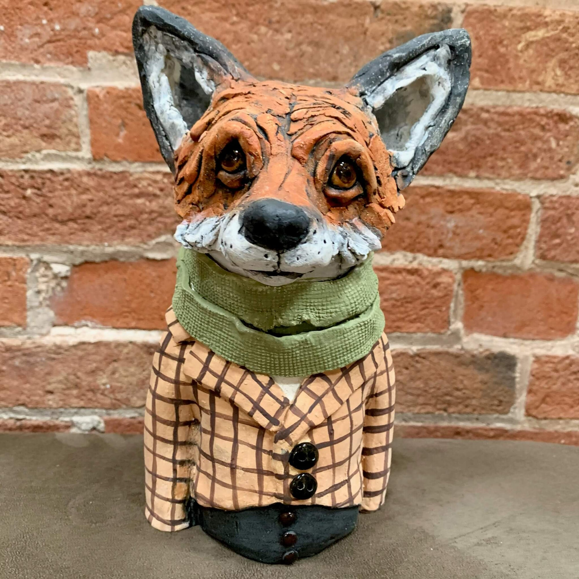 Ceramic Sculpture - Fantastic Mr Fox by Louise Brown