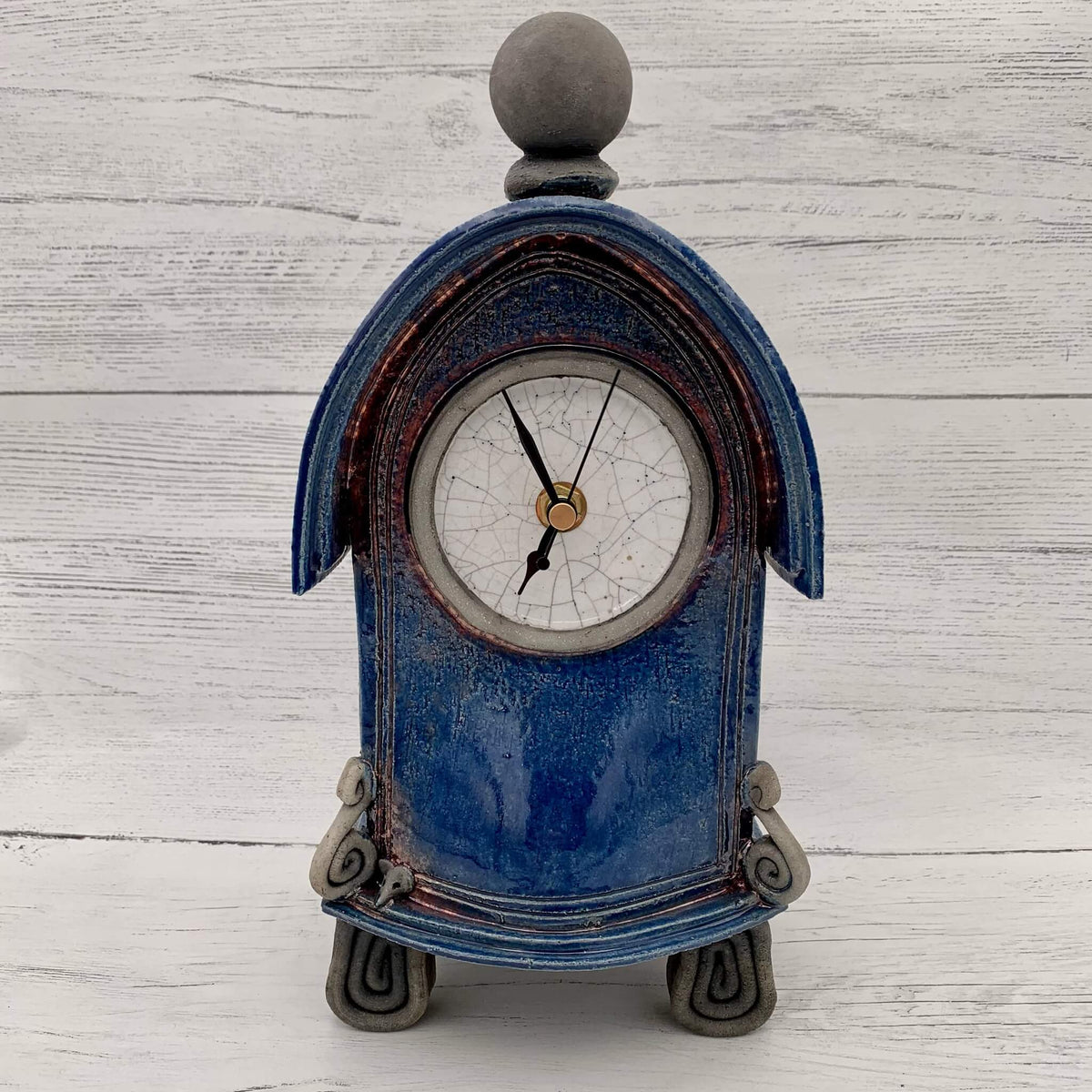 Ceramic Raku Clock - Various colours by Stonesplitter