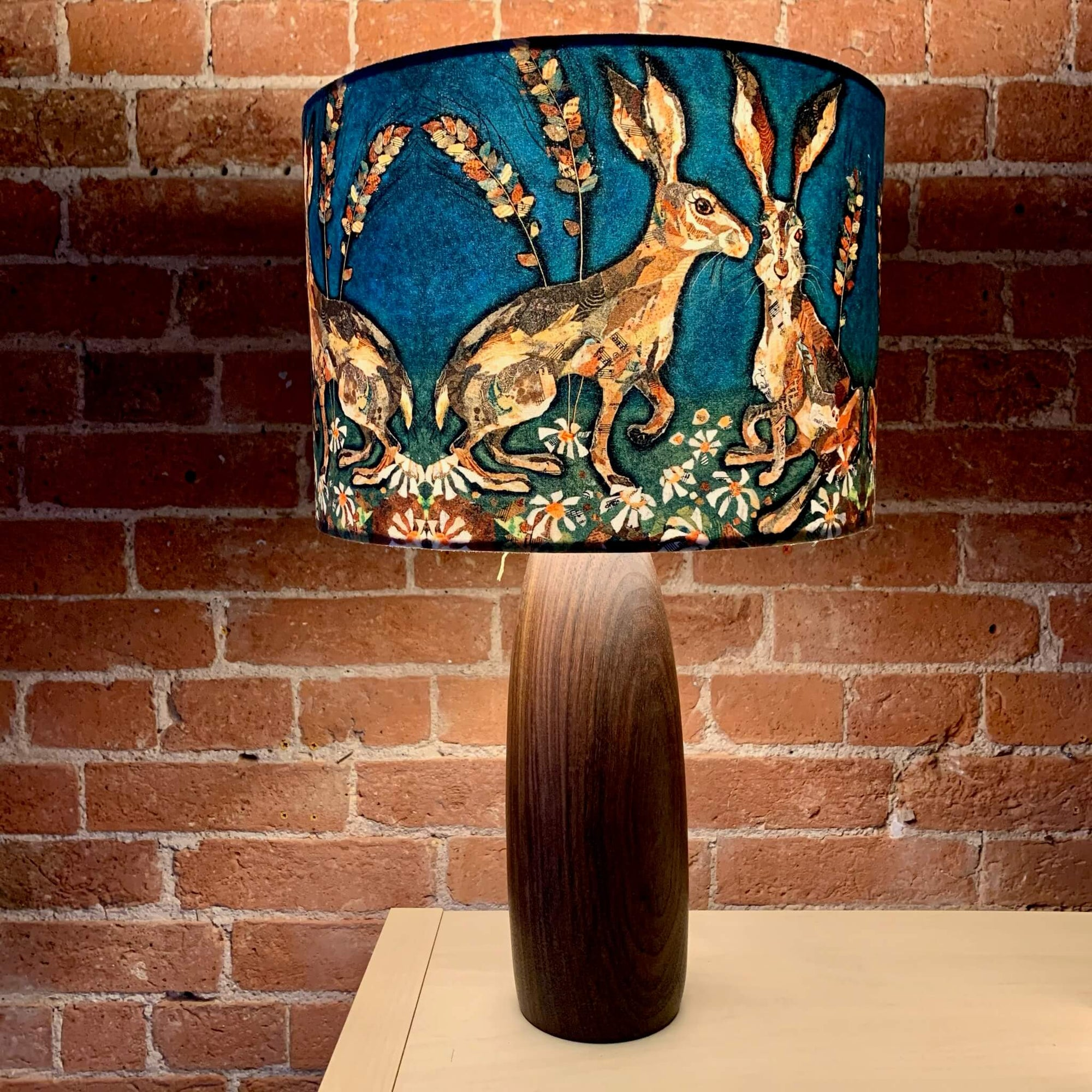 Faux Suede Animals Lampshade - 30cm x 21cm by Dawn Maciocia