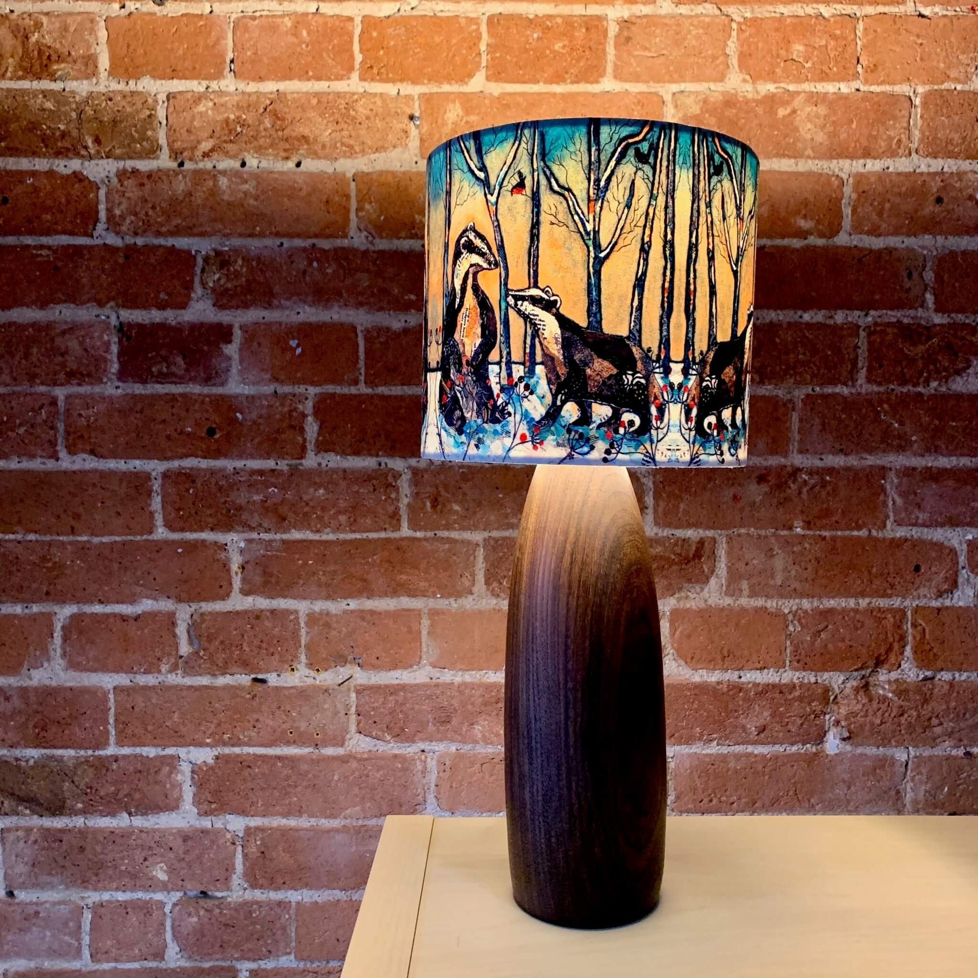 Faux Suede Animals Lampshade - Small 20cm x 18cm by Dawn Maciocia