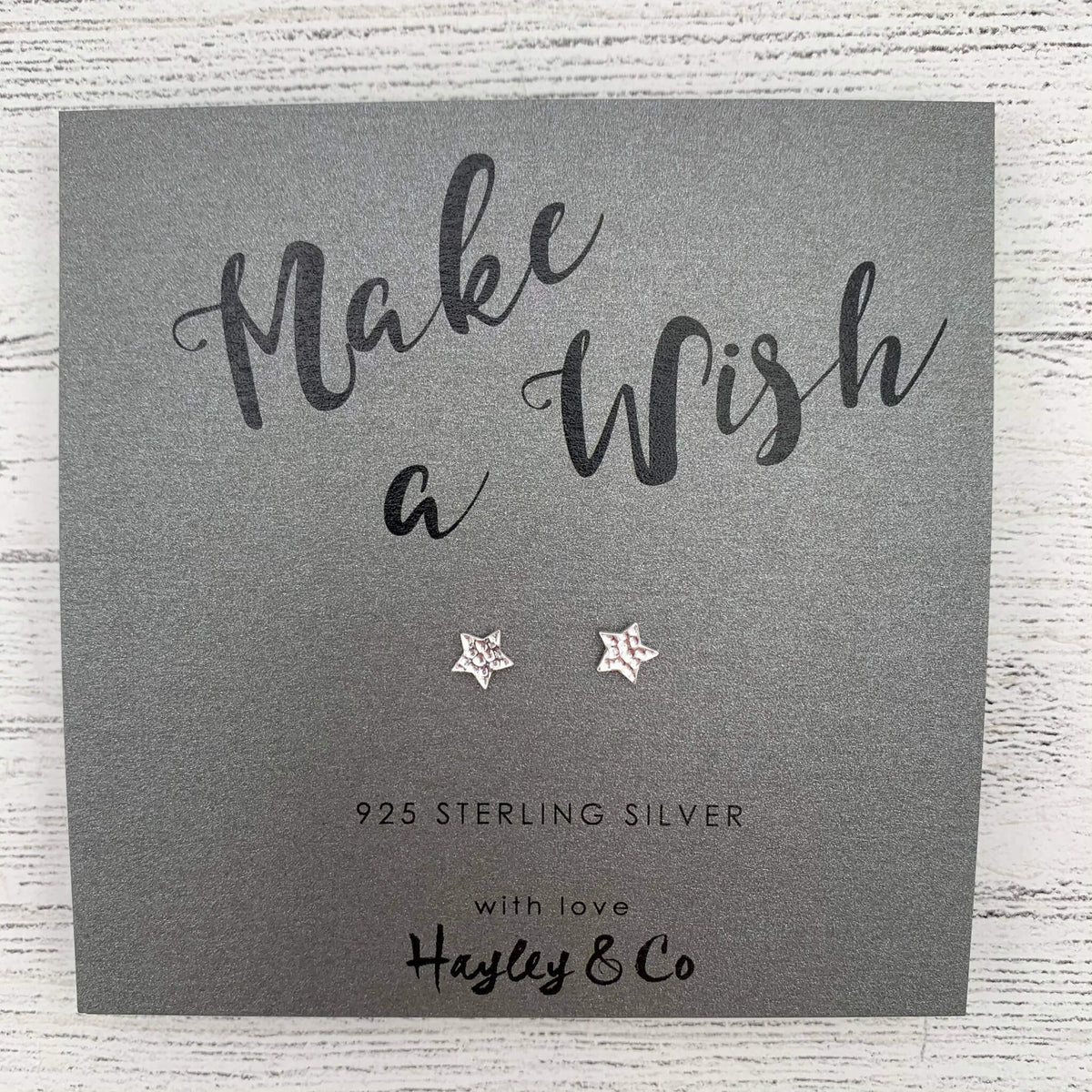 Silver Star Earrings – Make a Wish