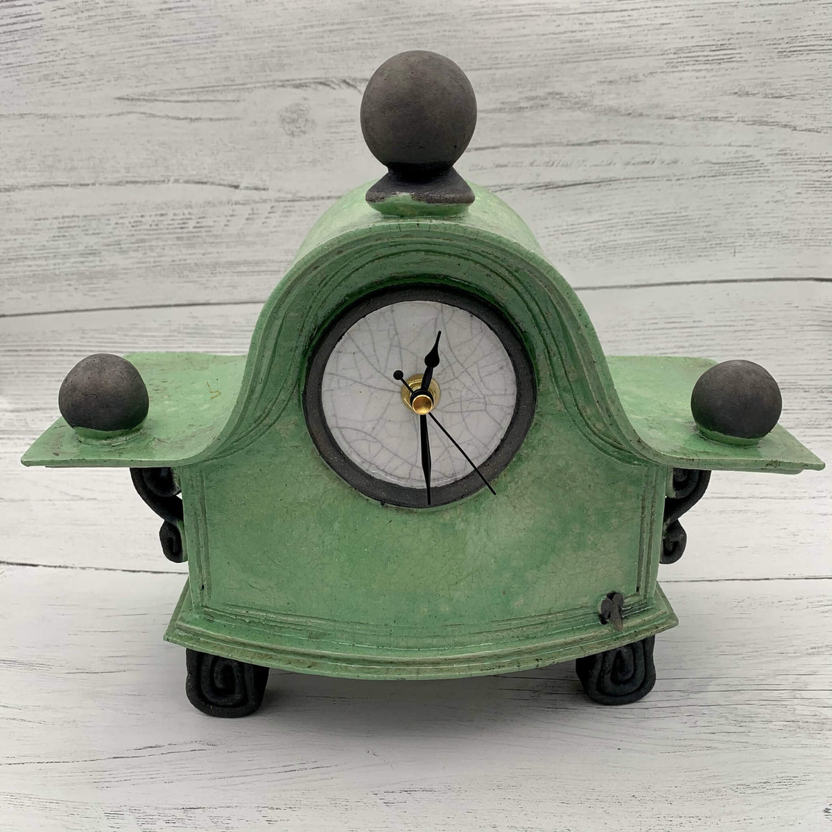 Large Ceramic Raku Clock - Various colours
