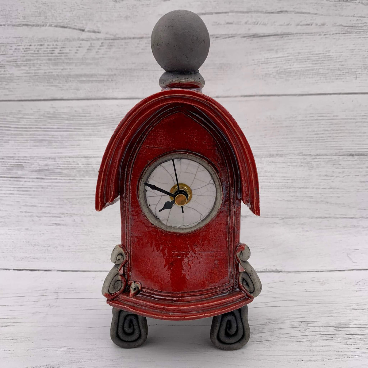 Ceramic Raku Clock - Various colours