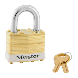 Master Lock 2 Laminated Brass Padlock 1-3/4in (44mm) wide-KeyedAlike.com