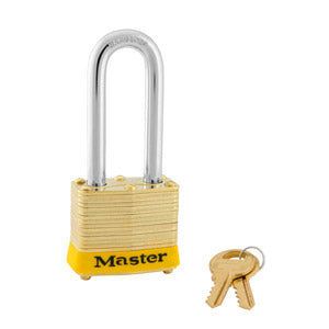 Master Lock 4 Laminated Brass Padlock 1-9/16in (40mm) wide-KeyedAlike.com