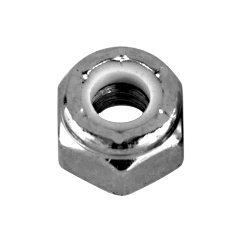 "Hodge Products Inc NTNC04Z - 1/4""Zinc Plated Nylon Insert Lock Nuts-KeyedAlike.com"
