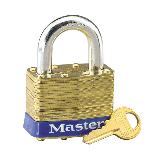 Master Lock 6 Laminated Brass Padlock 2in (51mm) wide-KeyedAlike.com