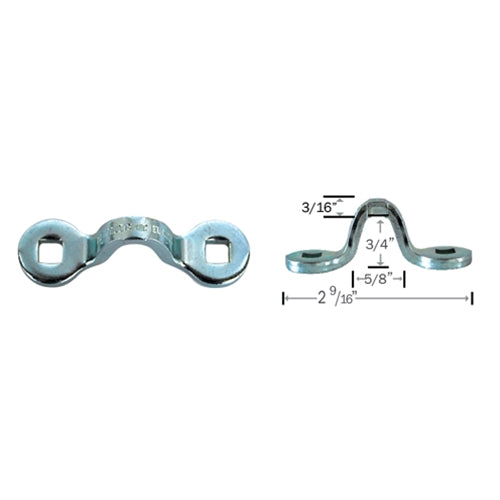 "Hodge Products Inc 200009 3/16"" Stainless Steel Pad Eye Loop-KeyedAlike.com"