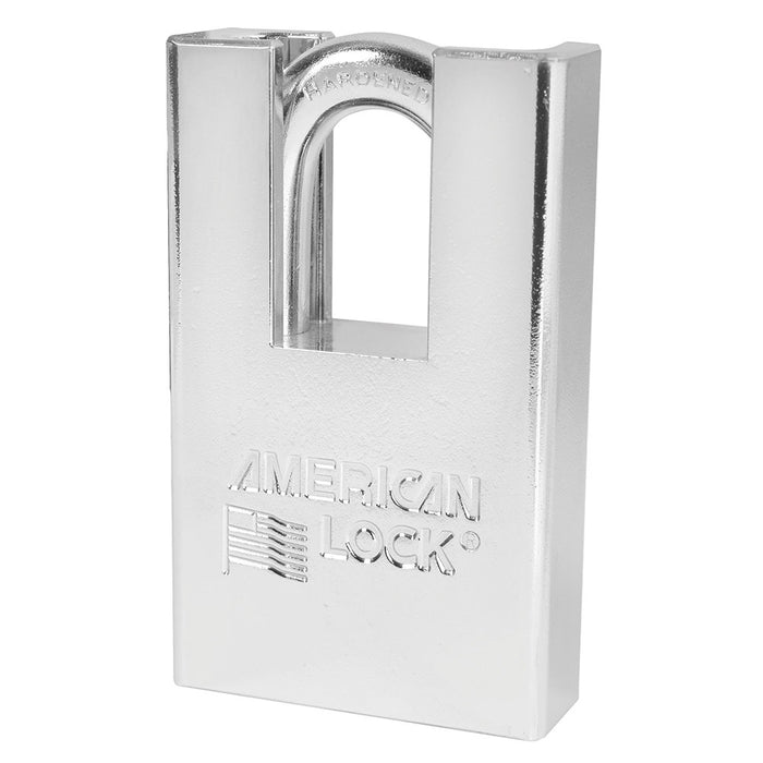 American Lock A6360 Solid Steel (Chrome Plated) Padlock 2in (51mm) wide-KeyedAlike.com