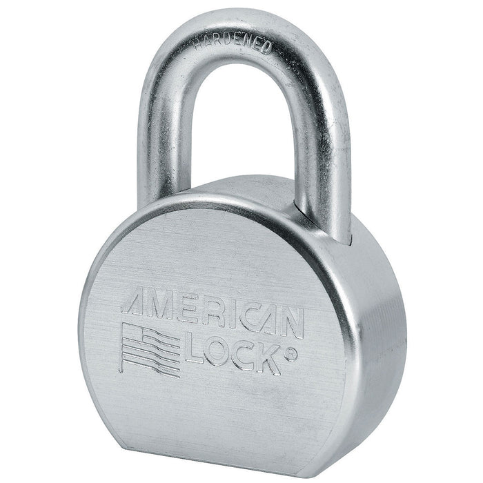 American Lock A702 Solid Steel (Zinc Plated) Padlock 2-1/2in (64mm) wide-KeyedAlike.com