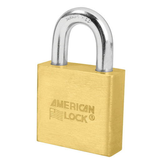 American Lock A6570 Solid Brass Padlock 2in (51mm) wide 1-1/8in tall shackle Keyed Alike-KeyedAlike.com