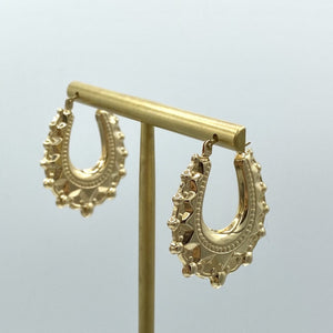 Load image into Gallery viewer, 9ct Yellow Gold Creole Hoop Earrings