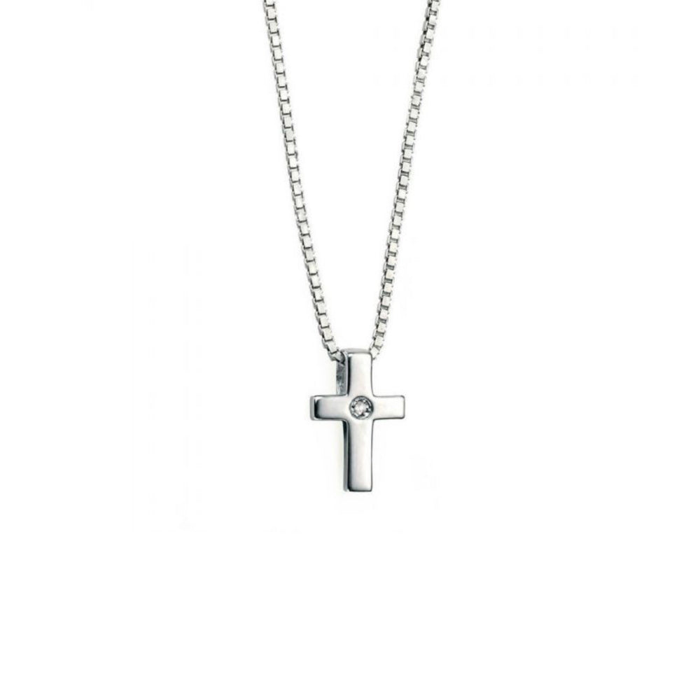 D for Diamond Children's Cross Necklace