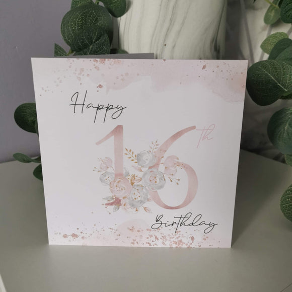 Happy 16th Birthday Card
