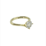 9ct Yellow Gold, Diamond Cluster Engagement Ring