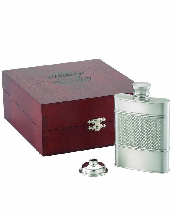 Royal Selangor Pewter Hip Flask - Maudes The Jewellers