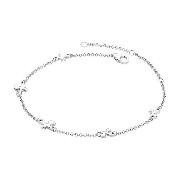 Lucy Quartermaine Sterling Silver Splash Anklet - Maudes The Jewellers