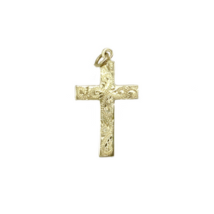 9ct Yellow Gold Cross (No Chain)