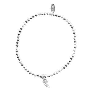 Load image into Gallery viewer, Ettie Thinbead Small Angel Wing Bracelet