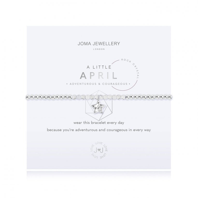Joma Jewellery a Little Birthstone April Rock Crystal Bracelet