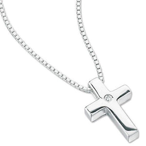 Load image into Gallery viewer, D for Diamond Children's Cross Necklace - Maudes The Jewellers