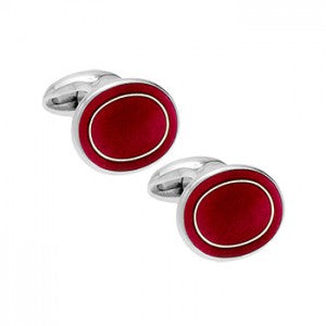 Philip Kydd Sterling Silver and Enamel Cufflinks - Maudes The Jewellers