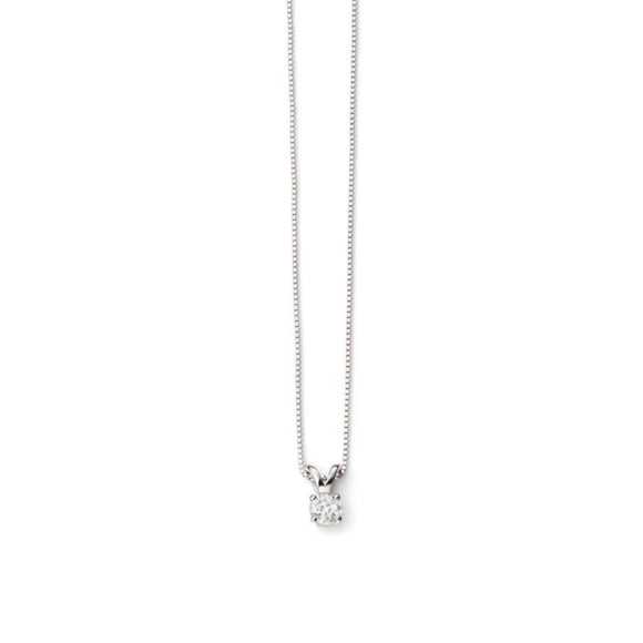 9ct White Gold Diamond Necklace