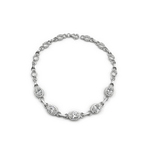 Real Effect Sterling Silver and Cz Bracelet