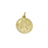 9ct Yellow Gold St Christopher (No Chain)